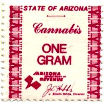 Hanf Steuermarke aus Arizona/USA