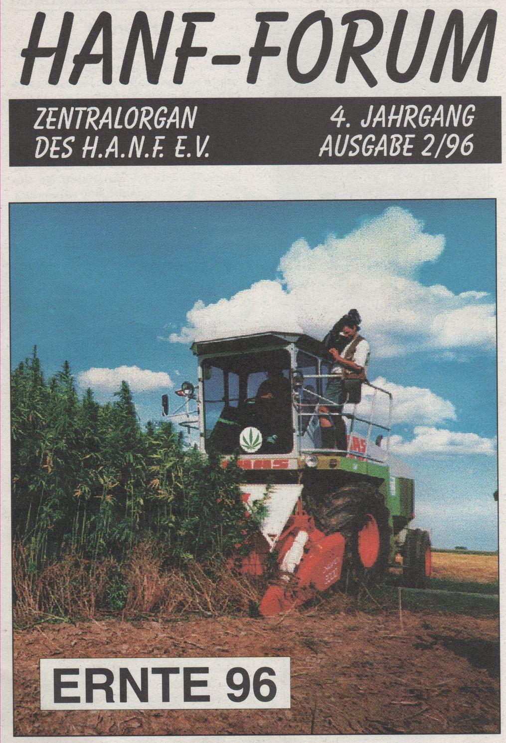 Cover Grafik der Zeitschrift Hanf Forum