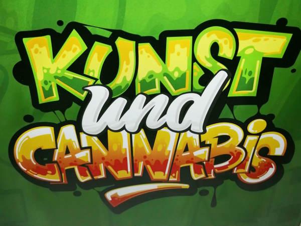 Grafik zur Ausstellung Kunst und Cannabis