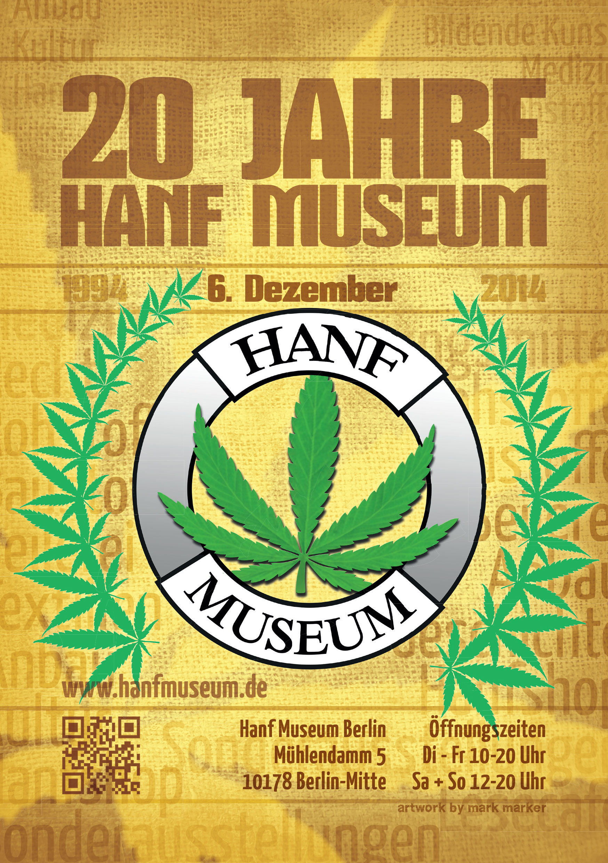 Flyer 20 Jahre Hanf Museum Berlin