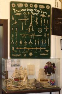 Foto von Seile, Taue, Schiffsegel..alles mit Hanf im Hanf Museum