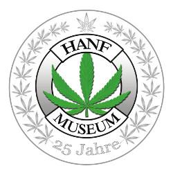 Logo des Hanf Museum zu 25 Jahren